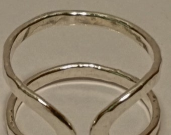 Sterling Silver Hammered Wrapped Ring Jewelry fashion gift