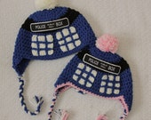 Doctor Who Tardis Inspired Hat - Dr. Who Hat - Girl Doctor Who
