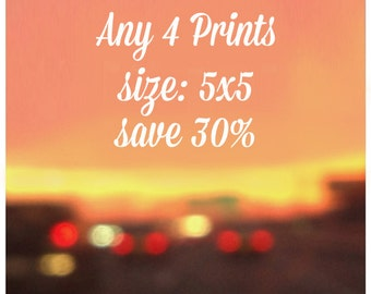 SALE - Any four 5x5 Prints - 30% off