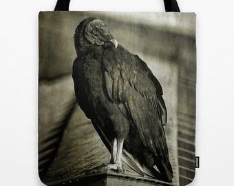 Vulture, Tote Bag, Photo Tote, Reusable Bag, Birds, Photography