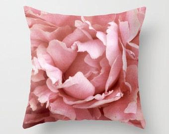 Peony 5 Photo Throw Pillow, Photo Pillow, Throw Pillow, Flower Pillow, Botanical Pillow, Flower Photogaphy, Photography