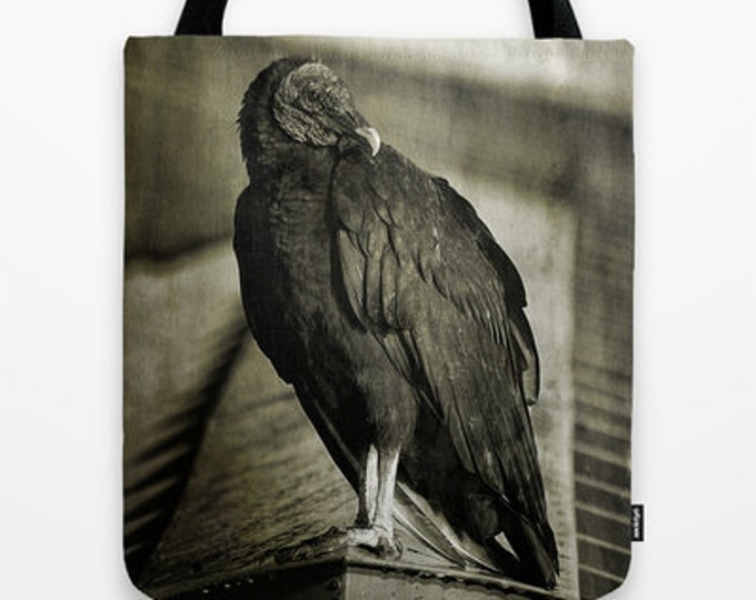 Vulture, Tote Bag, Photo Tote, Reusable Bag, Birds, Photography