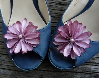 Bridesmaid Shoe Clips, Pink Wedding Shoe Clips, High Heels Flowers, High Heels Clips, Dusty Pink Shoe Clips