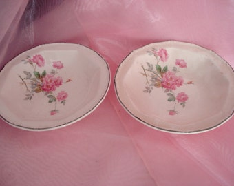 Vintage Shabby Berry Bowls Pink Rose Cherry Blossom Taylor Smith Taylor TST Shabby Cottage Chic Vintage Set of 2