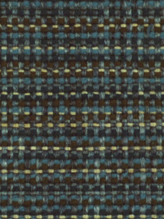 Navy Blue Tweed Upholstery Fabric Heavyweight By