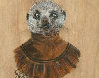 Mrs. Meercat ORIGINAL painting