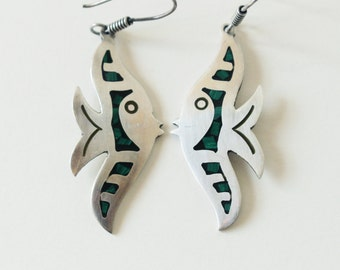 Vintage Mexican Sterling Angel Fish Earrings