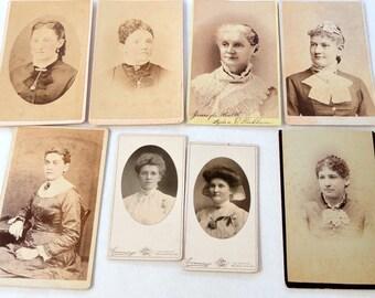 Vintage Sepia Photographs, Woman, Cabinet Card, CDV, 1900s, Ephemera
