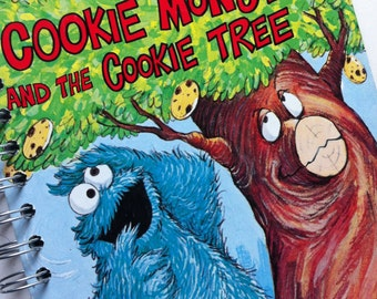 Cookie Monster and the Cookie Tree Little Golden Book Recycled Journal Notebook