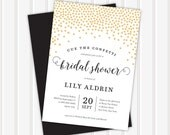 Cue the Confetti Bridal Shower Invite | 5x7 | Double Sided
