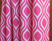 WINTER SALE ⋘ One Pair Window Treatments Curtains Drapery Panels 24W or 50W x 63, 84, 90, 96 or 108L Nicole Candy Pink shown
