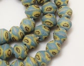 African Beads (10), Light Blue African Beads , Tribal Beads, Recycled Glass Beads (GL4)