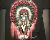 EXTRA LARGE Mandala Skull T-Shirt