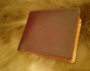 Leather wallet men (Vegetable tanned and calf leather)