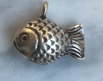 HT-156 Thai Hill Tribe Fine Silver Fish Charm