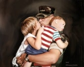 Art Custom Family Painting - Art  Commission Personalized Portrait 20x24