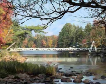 Custom Art Landscape Painting from Your Photo - Hand Painted & Stretched Canvas 16x20