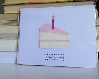 Birthday cake slice card - mmm cake!