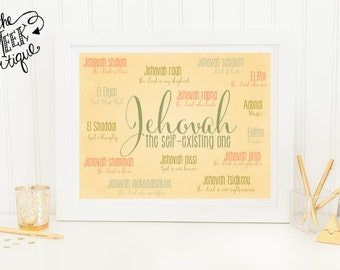 INSTANT DOWNLOAD, Names of God Printable, No. 168