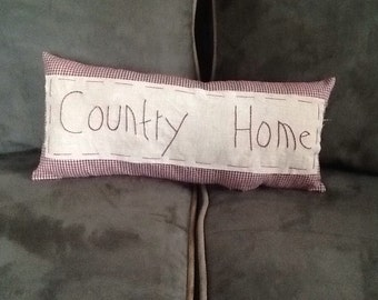Handmade Country Home Pillow