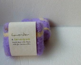 Felted Soap, Handmade Felted Soap - Lavender and Lemongrass