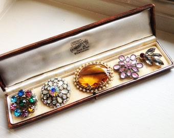 Set of Five Vintage Brooches