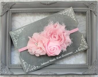 Light pink adjustable headbands, light pink headbands, infant headbands, newborn headbands, photo prop