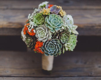 Succulent wedding bouquets, Succulent bridal bouquet, Bridal bouquet