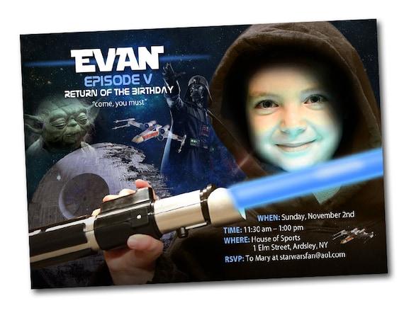 Star Wars-Einladung, druckbare Star Wars Party Star Wars Geburtstag ...