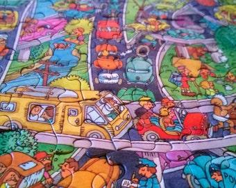 FREE SHIP - Complete Vintage Super Dome Sunday Hallmark Puzzle Springbok