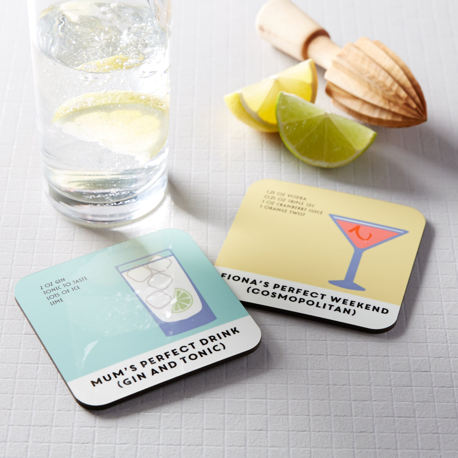 Gin And Tonic Drink Coaster Gin Gift Drinks Coaster