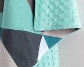 Mint Triangle Baby Boy Blanket