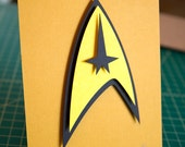 Star Trek insignia 5x7 hand cut papercraft framed
