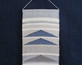 Handwoven mini wall hanging / Tapestry/ Weaving/ Fiber art/ Cotton & Linen
