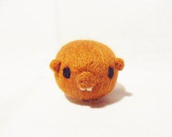 Needle Felted Guinea Pig -  miniature guinea pig figure - 100% merino wool - wool felt guinea pig