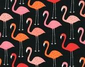 Urban Zoologie - Flamingos in Black- 1 Yard Cut
