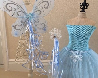 Frozen Elsa Costume, Periwinkle Costume, Tinkerbell Costume, Fairy Costume, Princess Costume, Fairy Wings, Tinkerbell Wings
