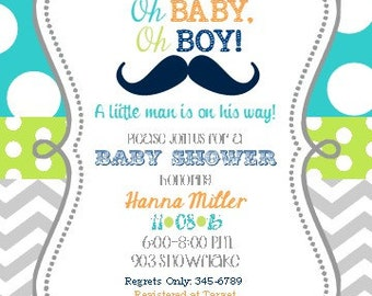girls baby shower invitations digital or printable by