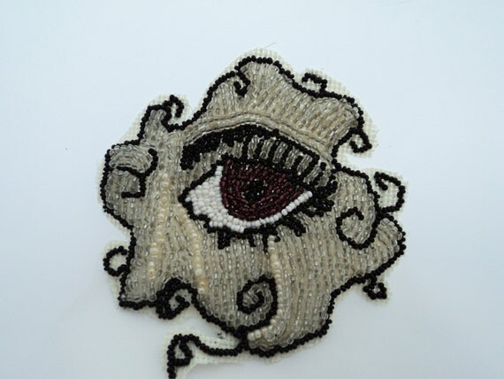 Seed bead embroidery eye patch supply applique