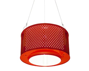 RED recycled drum lamp, washing mashine