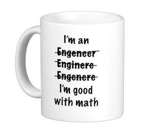 I'm an Engineer Misspelled Good at Math Coffee Mug hs0008
