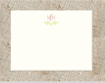 Monogrammed Note Cards or folded notes  - 25 cards & envelopes