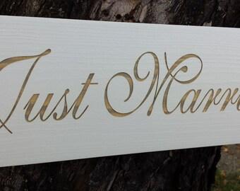 Wedding Sign, Just Married Wedding Sign, Flower Girl Sign, Photo Prop Wedding Sign