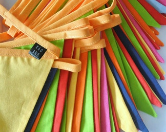 5 m long garland, banner, bunting, fanions, home decor, nursery, guirlande des fanions