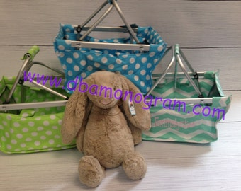 Monogramed Personalized Mini Market Tote Perfect for Easter Basket