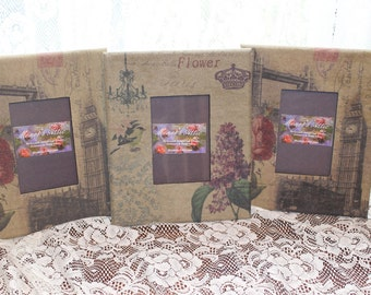 Shabby Chic Vintage Look Fabric Photo Frames