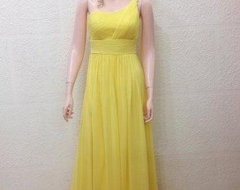 Yellow Prom Dress. Long Bridesmaid Dress. Floor Length Dress