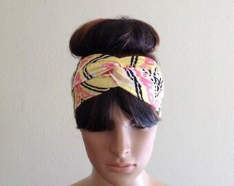 Printed Headband. Printed Head Wrap. Twist Headband