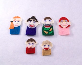 Personalized Family Finger Puppets
