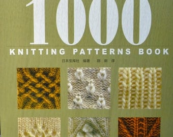 1000 KNITTING PATTERNS BOOK 700 Knit & 300 Crochet